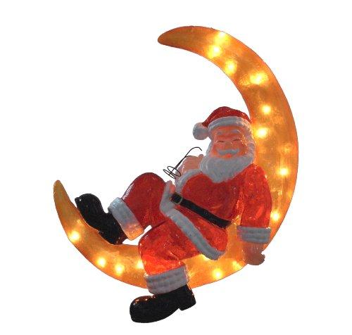Barcana 26-Inch Illuminated Fiberglass Santa