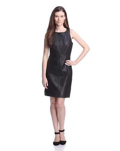 W118 by Walter Baker Women's Jeffery Quilted Leather Dress  [Black]