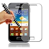 Gadget Giant Samsung Galaxy Ace Plus S7500 LCD Screen Protector - 10 Pack - GT-S7500 - COMES WITH A FREE POLKA DOT STYLUS PEN