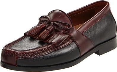 Johnston & Murphy Men's Aragon II Slip-on Loafer,Black/Brown,7 M