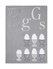 Eggs Appliqué Tea Towel