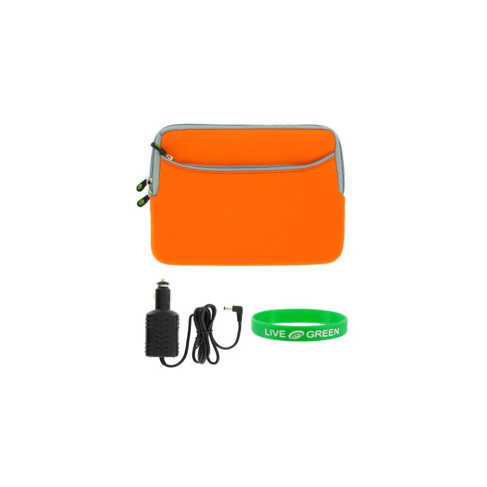 Dell Inspiron Mini 10 Inch 10.1 Inch Notebook Sleeve Case and Car Charger