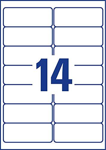 Avery Zweckform Étiquettes Adresse Quickpeel 99,1 38,1 Mmen Polyester Transparent Bord Tout Autour Coins Arrondis pour Imprimante Jet D'encre Contenu: 3