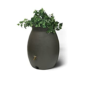 Algreen Products Castilla Rain Barrel 50-Gallon, Brownstone