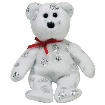 TY Jingle Beanie Baby - FLAKY the Bear (White) (Walgreens Exclusive)
