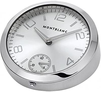Mont Blanc Table Clock 102375 100mm Stainless Steel Case Men's & Women's Watch