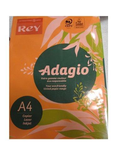 250 feuilles A4 papier couleur orange en ramette ADAGIO+ copieur, laser, jet d'encre 160 g