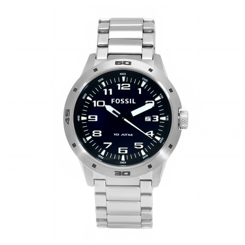 Fossil Men's AM4172 Stainless Steel Quartz Blue Dial Watch