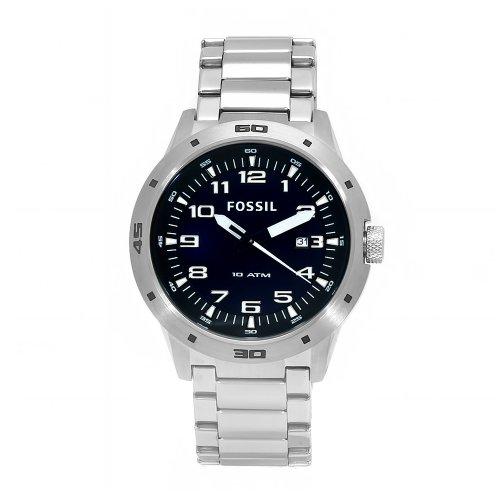Fossil Men's AM4172 Stainless Steel Quartz Blue Dial Watch