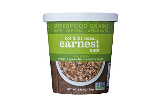 Earnest Eats Vegan & Wheat-Free Hot Cereal With Superfood Grains, Quinoa, Oats And Amaranth - Asia Blend - (Case Of 12 - Single Serve Cups)