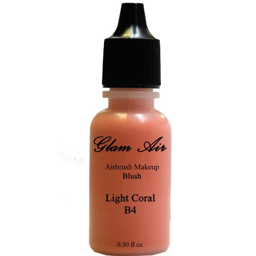 Large Bottle Glam Air Airbrush B4 Light Coral Blush Water-Based Makeup 0.50 Oz