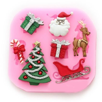 Christmas Cake Decoration Molds : 38% OFF! Longzang No.534 Christmas Fondant Silicone Sugar ...