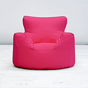 Childrens Kids Fuchsia Pink Cotton Small Chair Seat Beanbag Bean Bag Filled from Creative Living