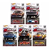 Hot Wheels 1:64 Car Culture HW REDLINERS SET OF 5 Real Rider Collectible Die Cast Toy Model Cars