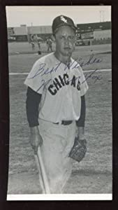 Nellie Fox Chicago White Sox Autographed 3 3 4 X 7 Photo PSA Sticker by Hollywood Collectibles