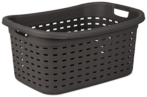 Sterilite 12756P06 Weave Laundry Basket, Espresso, (Pack of 6)