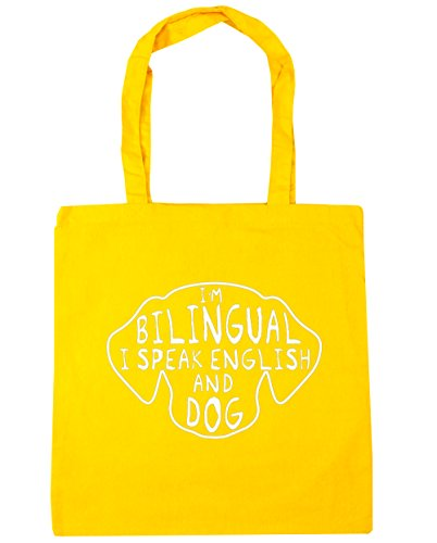 hippowarehouse-im-bilingual-i-speak-english-and-dog-tote-shopping-gym-beach-bag-42cm-x38cm-10-litres
