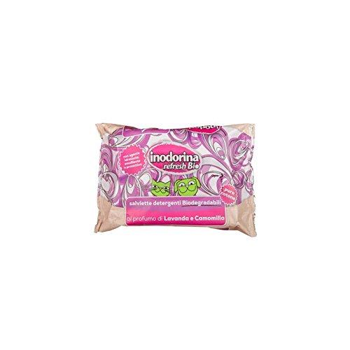 Inodorina Refresh Bio salviette detergenti al profumo di Lavanda e Camomilla