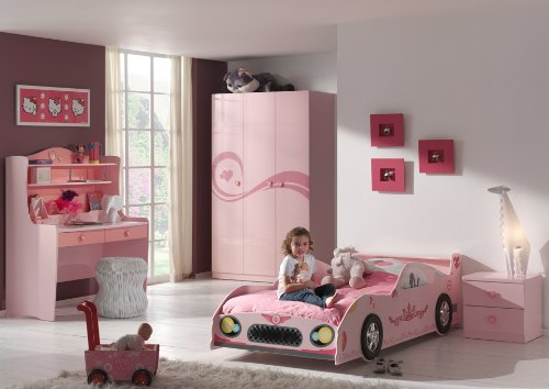 Lit voiture Swithome Pinky 90x200 Rose