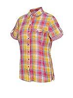ICEPEAK Camisa Mujer Lindsey (Fucsia / Amarillo)