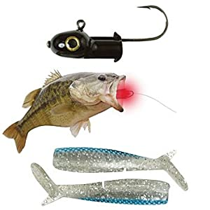 Laser enhanced fishing lure soft bait jig for Amazon fishing lures