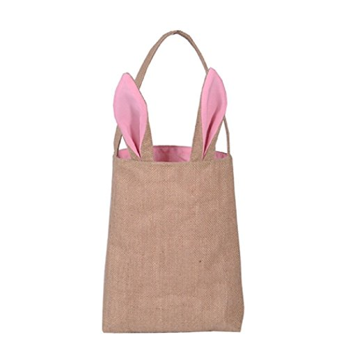 Best Easter Bunny Bag - Easter Basket Tote Handbag - Dual La