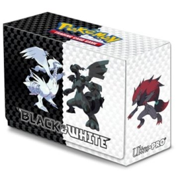 Ultra-Pro Deck Box featuring Reshiram and Zekrom from Pokemon: Black and White (Side-Loading, Holds 60-80 Sleeved Cards) - 1
