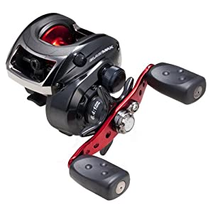 Abu Garcia Left Hand Retrieve Black Max Low Profile Baitcast Reel (12-Pound/145-Yard)