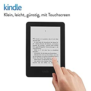 Kindle, 15,2 cm (6 Zoll) Touchscreen ohne Spiegeleffekte, WLAN (Schwarz) - mit Spezialangeboten