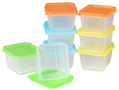 EasyLunchboxes Mini Dippers Small Dip, Condiment, or Sauce Containers, Leak-Resistant, Set of 8 by EasyLunchboxes