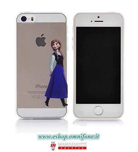 Cover iPhone 5 5S Trasparente con Anna di Frozen