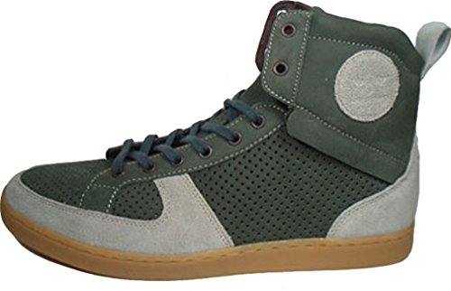 Creative Recreation Solano Mid, materiale esterno e GORE-TEX. Interni in pelle, CR175 - 30, Verde/Grigio, Dimensioni 42/US 9/UK 8/27 cm