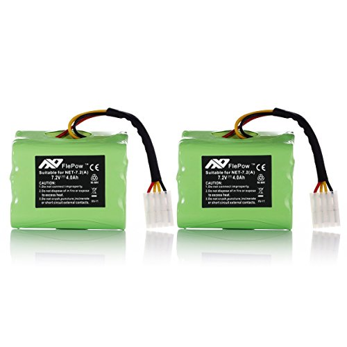 Why Choose FlePow™ 2 Pack High Capacity 7.2V 4000mAh Ni-MH Neato XV-11 XV-12 XV-15 XV-21 Vacuum Cl...