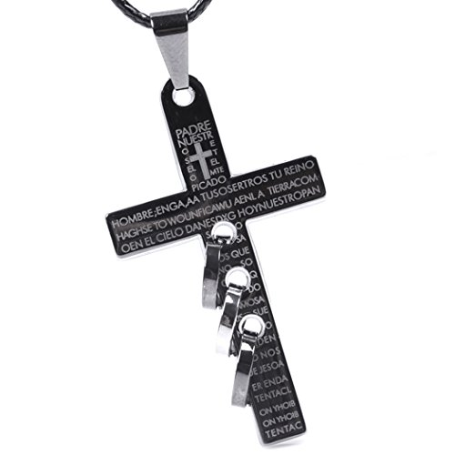 Red Dandelion Personalize Simple Titanium Steel Cross Scripture Pendant Men Necklace (Coleman Blender compare prices)