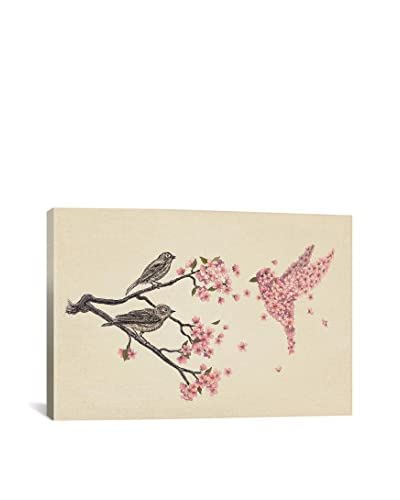 Terry Fan Blossom Bird Gallery-Wrapped Canvas Print