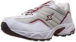 Sparx Mens Silver and Red Running Shoes - 9 UK (SM-04)