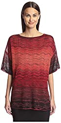 M Missoni Women's Patterned Tee, Red/Multi, 42 IT/8 US