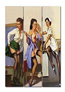 6FT TALL SAUCY LADIES DRESSING SCREEN, ROOM DIVIDER FROM CENTURION PINE       Customer reviews and more information
