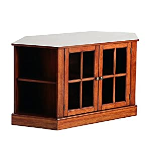 Cheap  Wood Thomas Walnut Corner Media Stand
