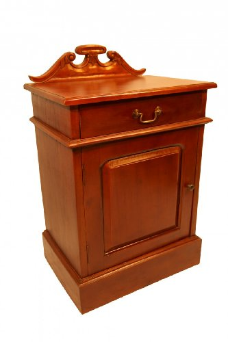 Cheap Chippendale End Table with Door and Drawer (CHP-ET-SUBR)