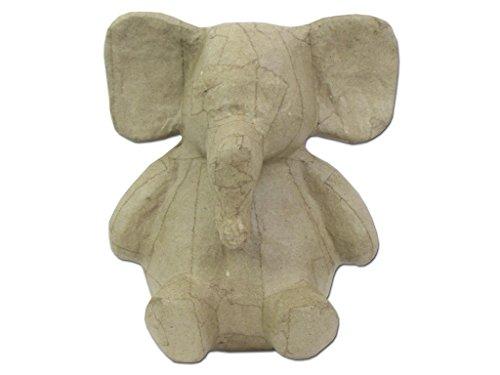 Paper Mache Sitting Elephant 8 1/4 In. By Craft Pedlars