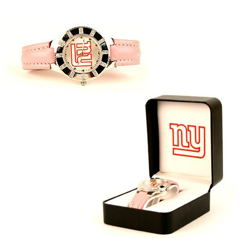 New York Giants Avon NFL LADIES PINK WATCH in Gift Box Official NFL w hologram Pink Strap