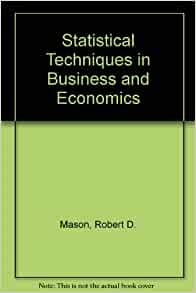 Statistical techniques in business and economics essay