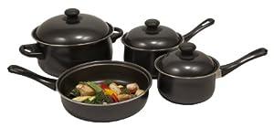 Heuck 32001 7 Piece Non Stick Steel Cookware Set