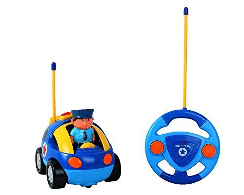 Cartoon R/C Police Car Radio Control Toy for Toddlers by Liberty Imports (ENGLISH Packaging)