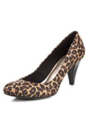M&S Collection Animal Print Stiletto High Heel Court Shoes