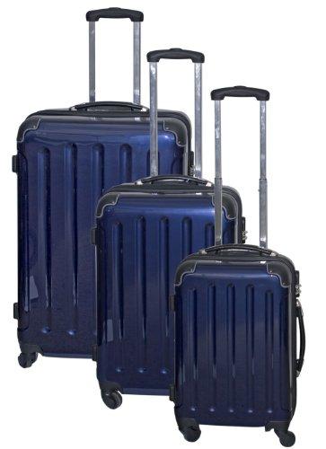 Polycarbonat Kofferset 3tlg mit ABS Blau