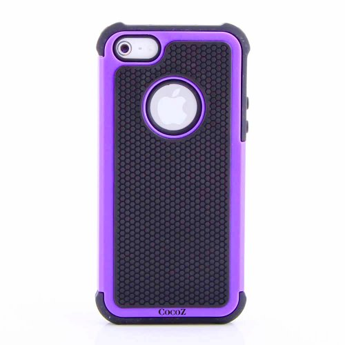 Purple/black Hard Soft High Impact Armor Case Cover for Apple Iphone 5 At&t Verizon Sprint Dust Stylus -Hot (Purple/black)-fs00276 at Amazon.com