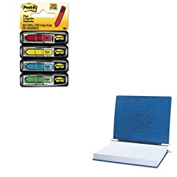 KITACC54073MMM684SH - Value Kit - Acco Pressboard Hanging Data Binder (ACC54073) and Post-it Arrow Message 1/2amp;quot; Flags (MMM684SH)
