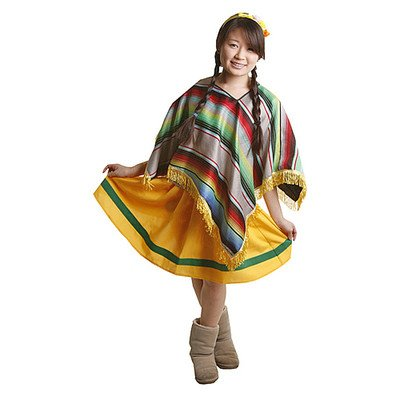 Mexican Girl Kids Costume